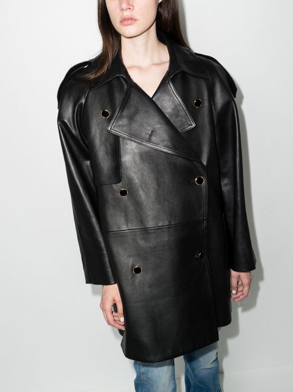 Eden Leather Trench Coat