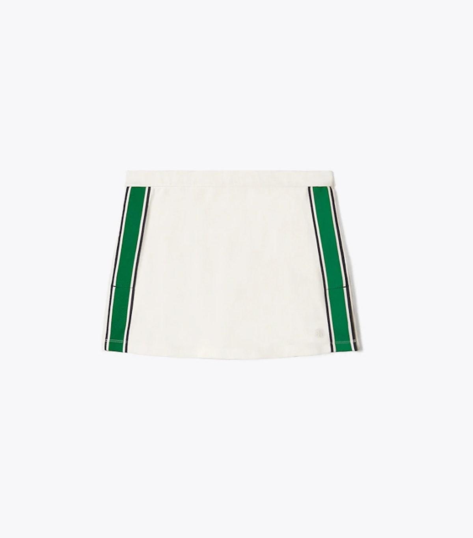 Tory Sport Tech Piqué Side Slit Tennis Skirt