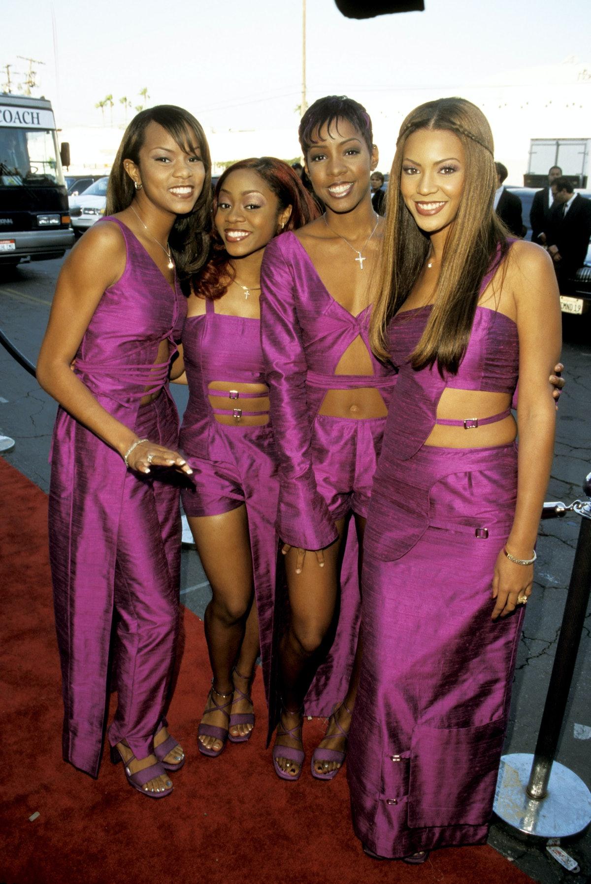 Destiny's Child wearing all purple
