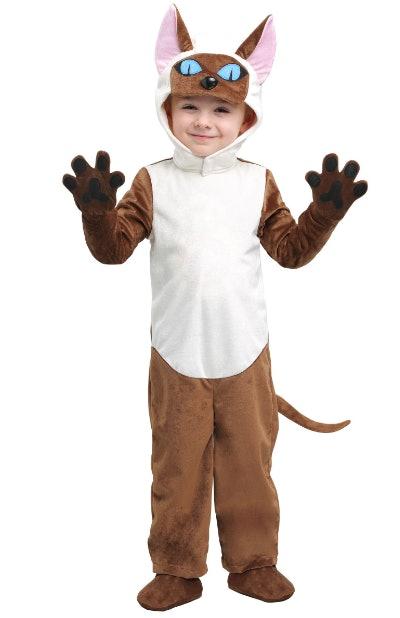 Child wearing a Siamese cat costume