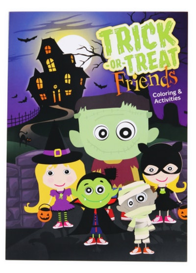 This Halloween coloring book is available for $1 at Five Below.