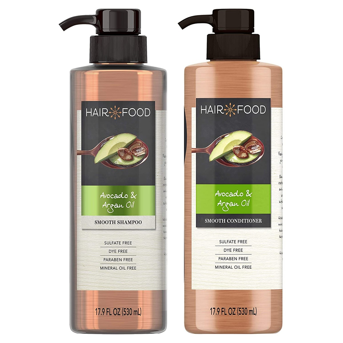 Hair Food Shampoo & Conditioner Set with Argan Oil & Avocado