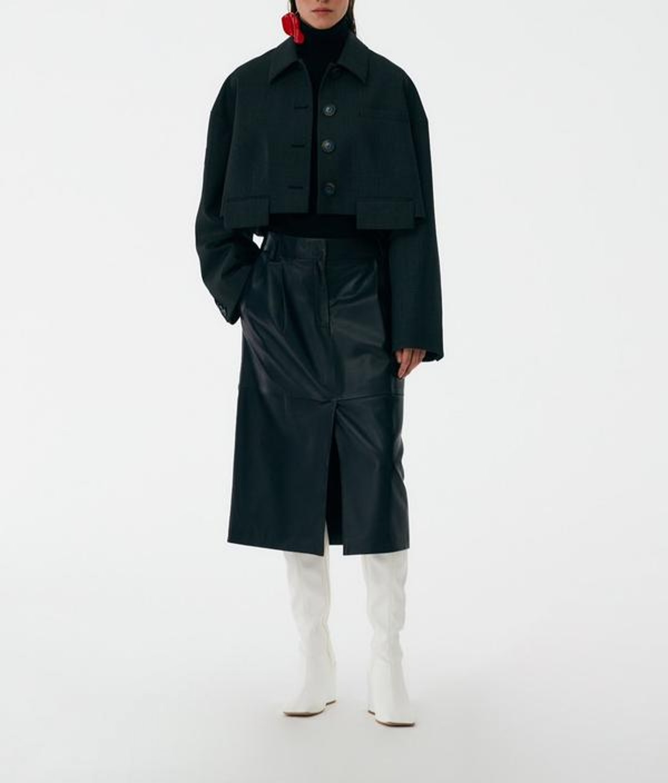 Arthur Check Cropped Jacket