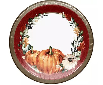 These fall-themed pumpkin plates are available this Halloween season at BJ's Wholesale.