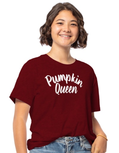 This juniors 'pumpkin queen' graphic tee is available at Five Below this Halloween season.