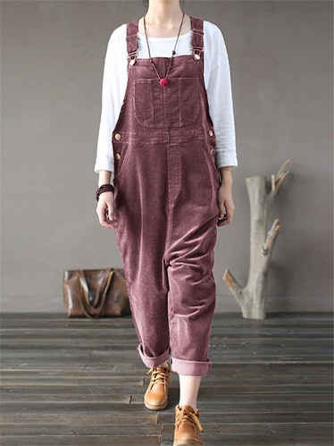 Casual Multi-Pocket Corduroy Overall