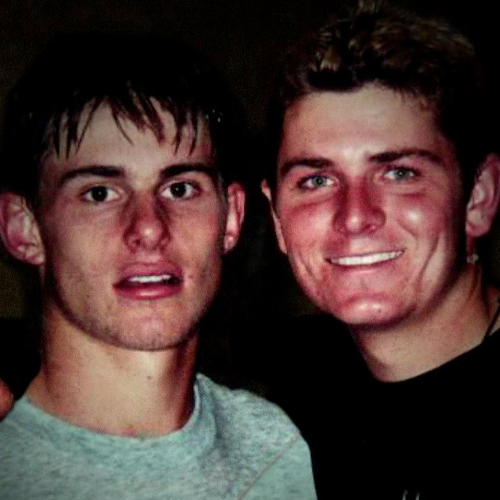 A young Andy Roddick alongside former tennis player Mardy Fish, subject of 'Untold: Breaking Point.'