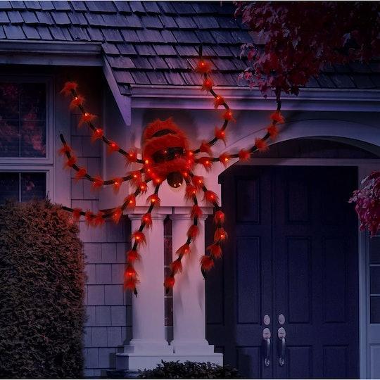 Members Mark pre-lit 6-foot furry spider outdoor Halloween decoration