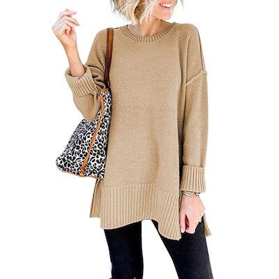 VTSGN Side Slit Pullover Sweater