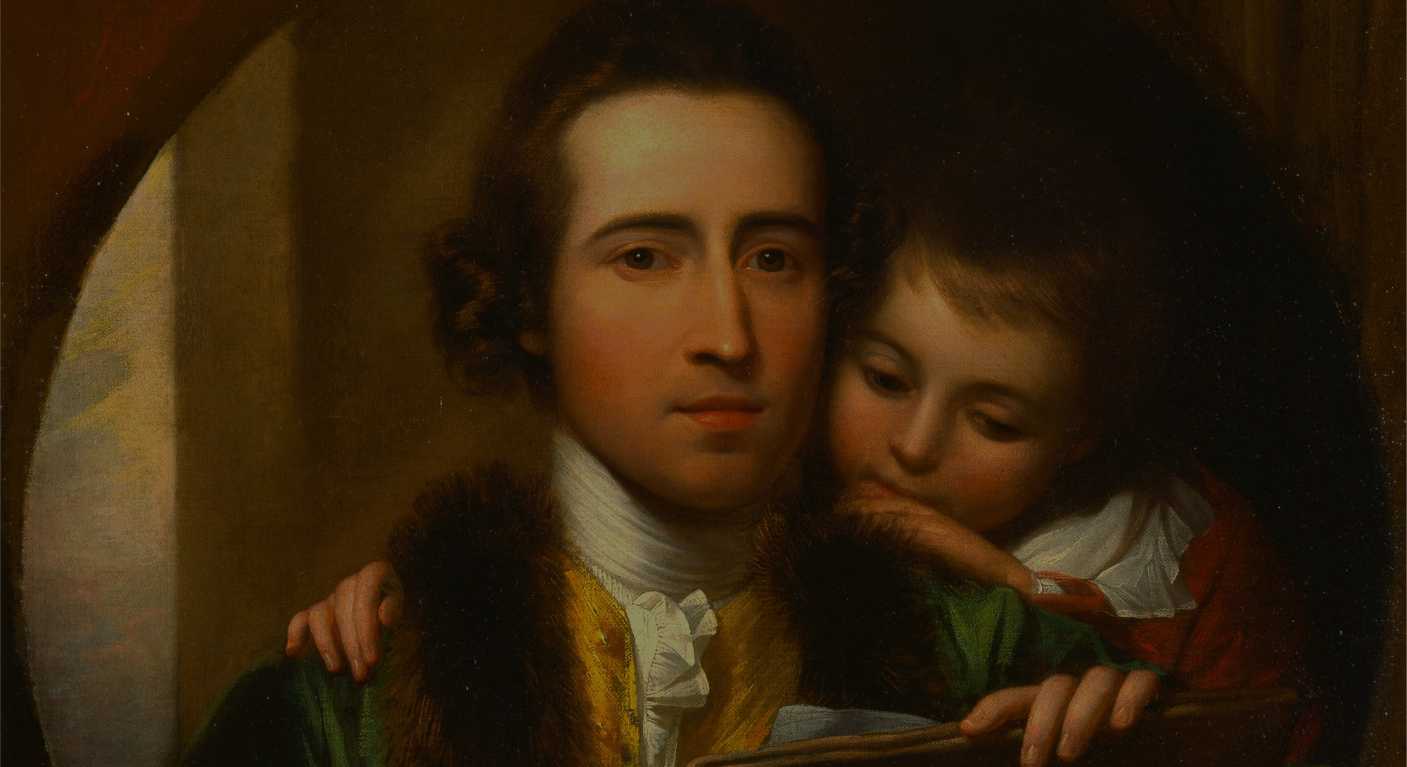 The Artist and His Son Raphael Self-Portrait with Raphael West, Benjamin West, 1738-1820