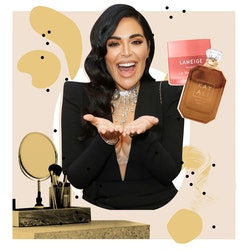 Mona Kattan's beauty routine and skin care essentials.
