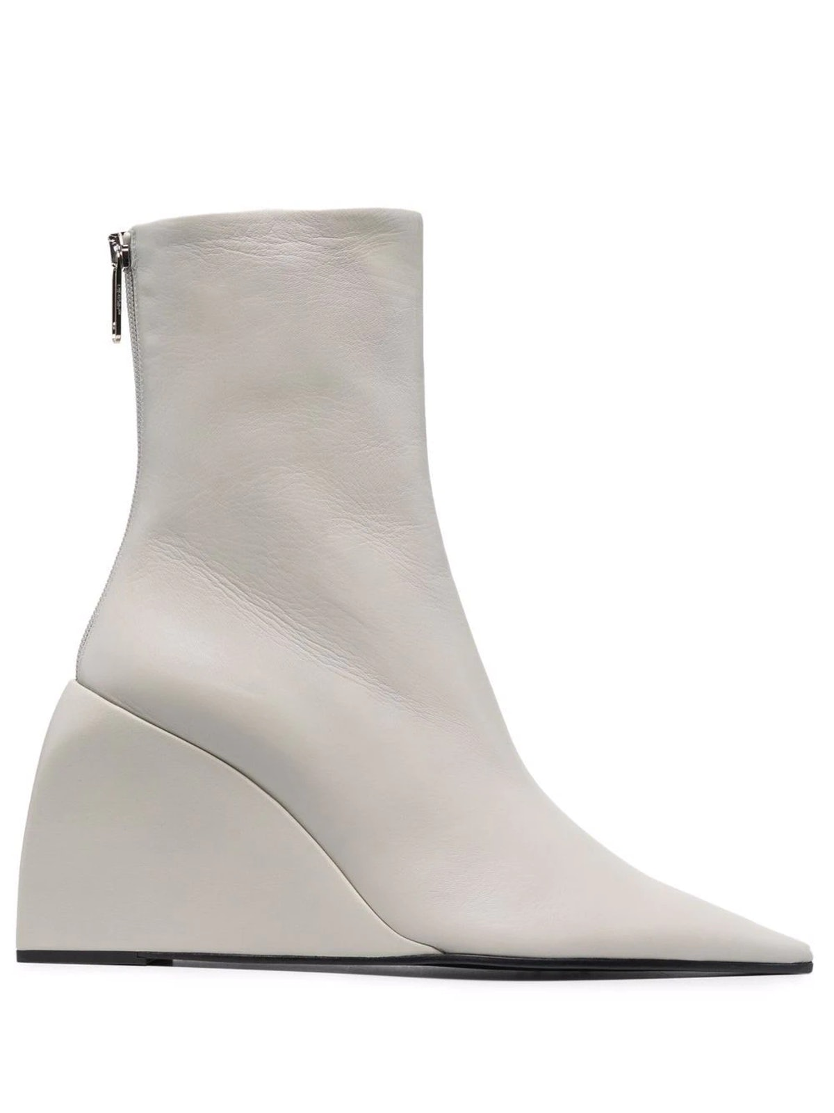 White Dolls wedge boot from Off-White, available to shop via Farfetch.