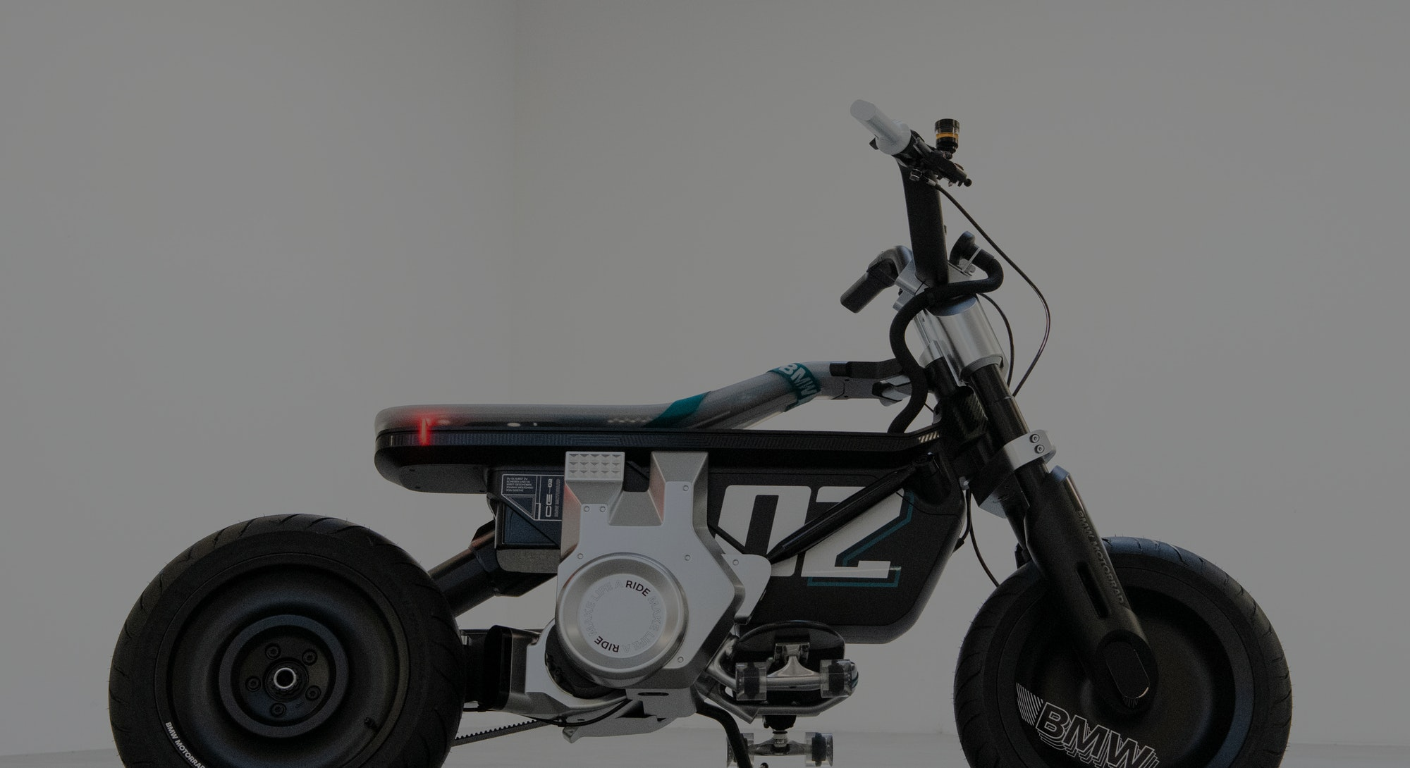 BMW electric motorbike/scooter concept CE 02. Electric vehicle. EV. EVs. Electric bike. E-bike. E-sc...
