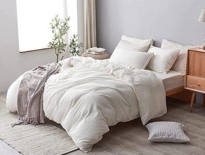 DAPU Cotton Linen Blend Duvet Cover Set