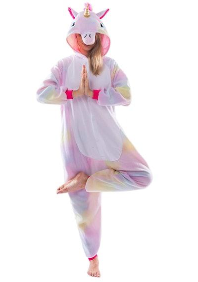 Adult Pajama Plush Onesie Unicorn Costume