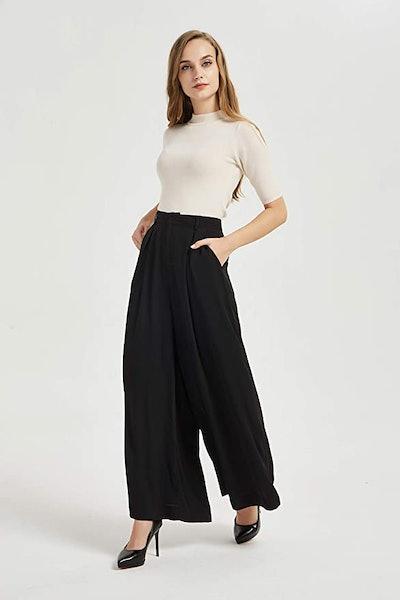 Tronjori High-Waisted Wide Leg Trousers