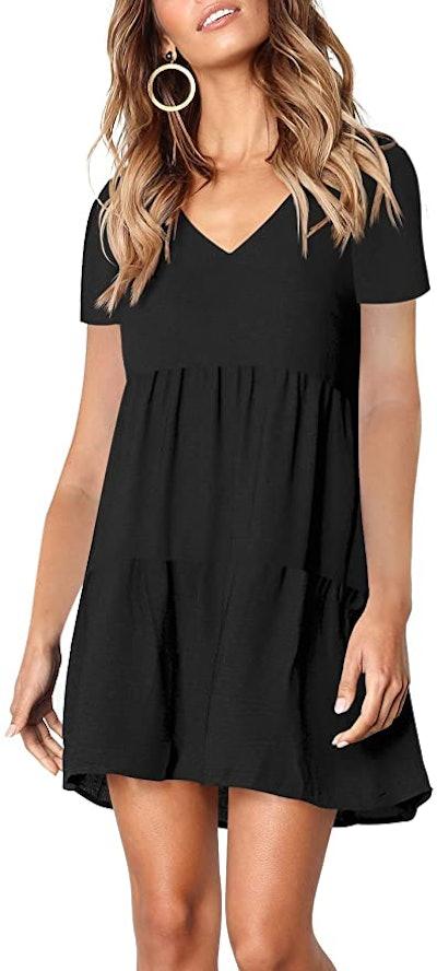 Amoretu Summer Tunic V Neck Dress
