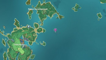Raimei Angelfish Genshin Impact Location Shipwreck Kujou Encampment