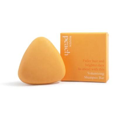 Peach volumizing shampoo bar