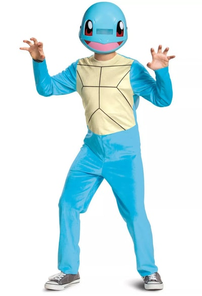 Child posing in Squirtle costume