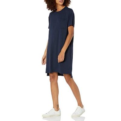 Daily Ritual Jersey Boxy Pocket T-Shirt Dress