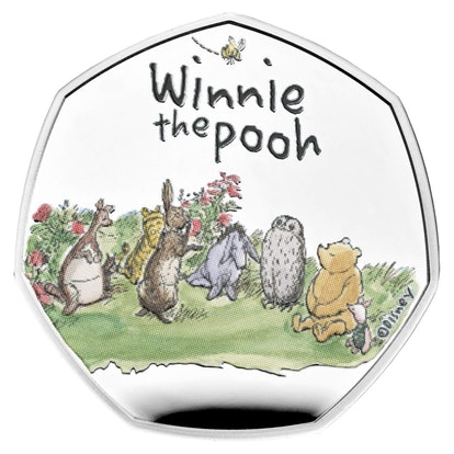 The Winnie the Pooh and friends 50p coin is available from The Royal Mint