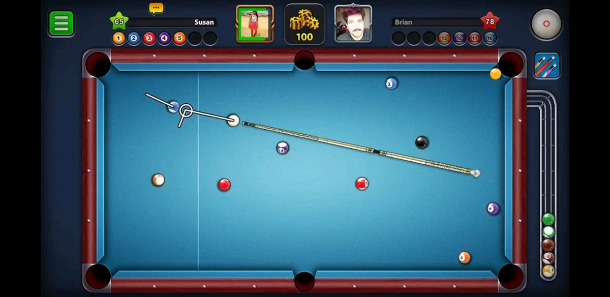 These online games you can play with friends include a virtual pool sesh.