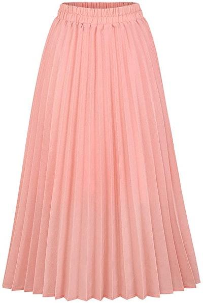CHARTOU High Waisted A Line Skirt
