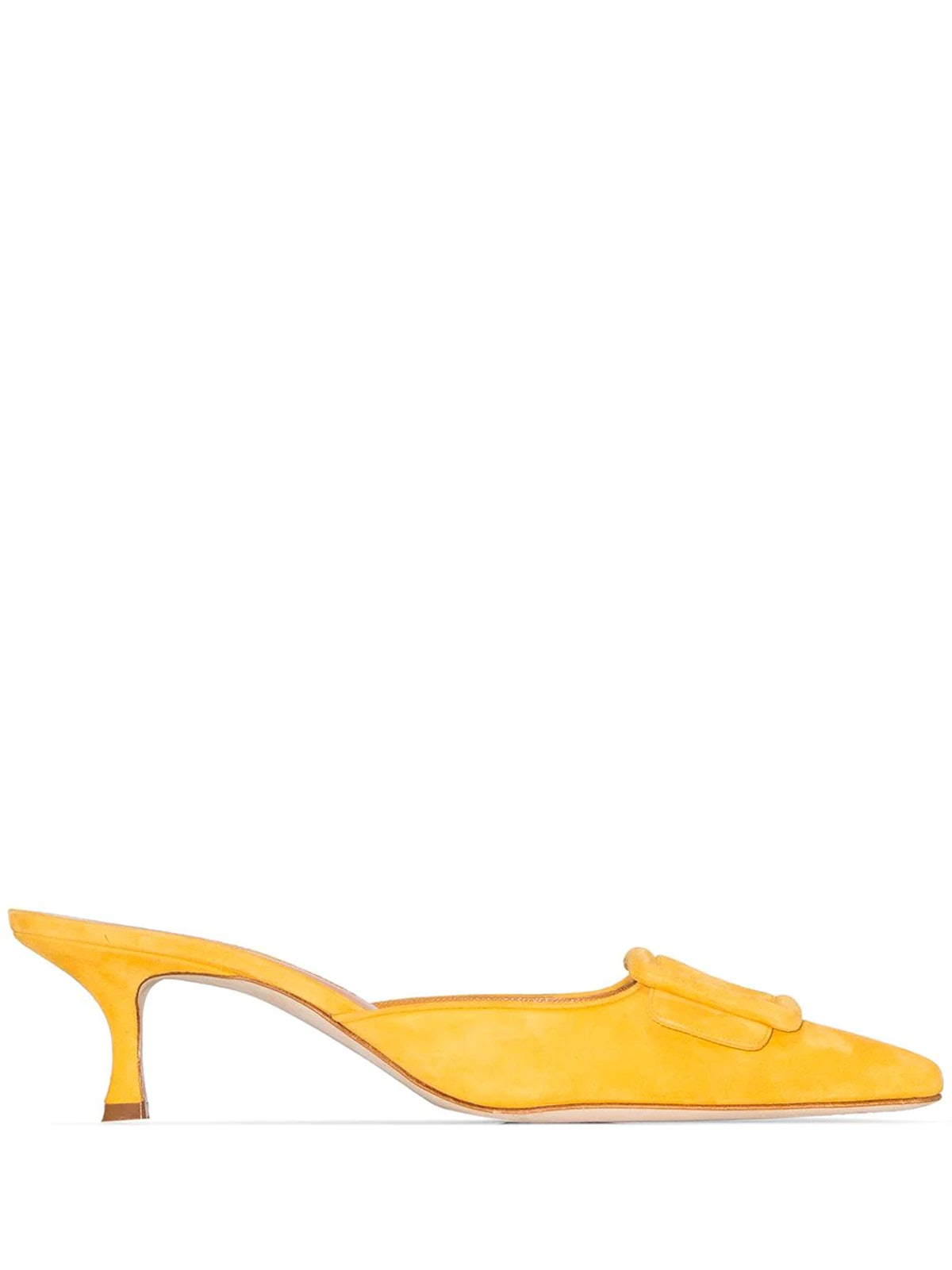 Yellow Maysale 50 Suede Mules