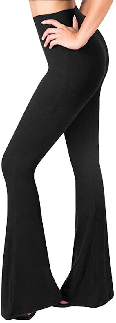 SATINA High Waisted Flare Pants
