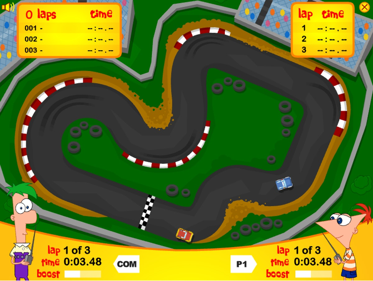 These Disney Channel games to play online include a Phineas and Ferb racing game.