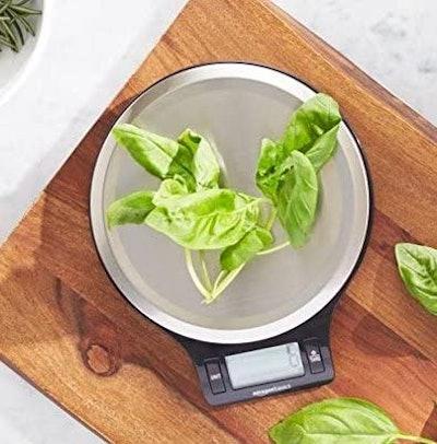 Amazon Basics Stainless Steel Digital Kitchen Scale