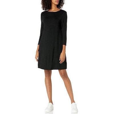 Amazon Essentials 3/4 Sleeve Boatneck Swing Dress