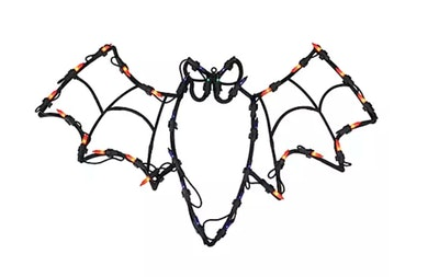 This lighted bat Halloween window silhouette decoration is available online at BJ's Wholesale.
