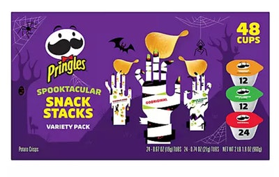 This Pringles Halloween snack stacks variety pack is available at BJ's Wholesale.