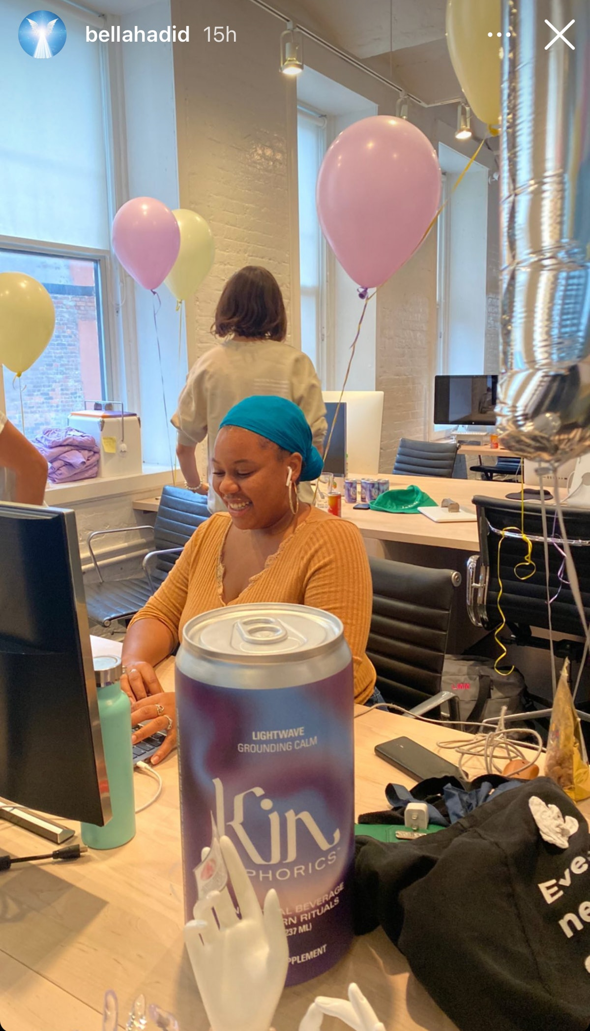 A look at Kin Euphorics headquarters, Bella Hadid's new office