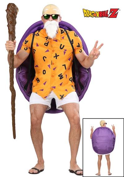 Adult posing in Master Roshi costume