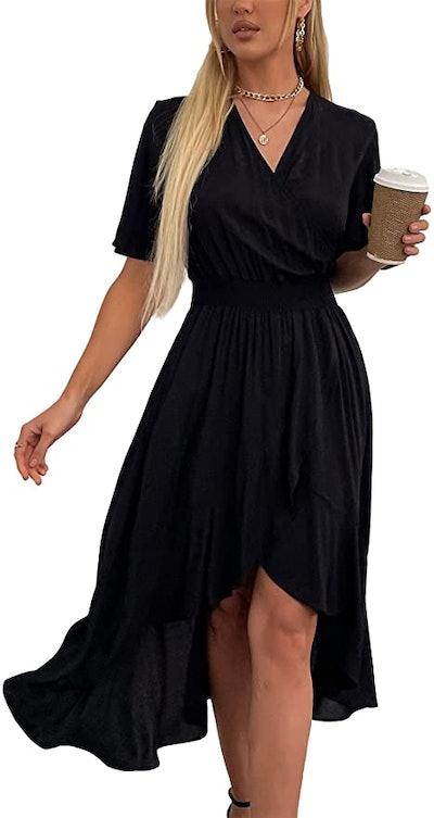 Kormei V-Neck Flowy Party Dress