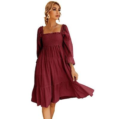 R.Vivimos Puff Sleeve Dress