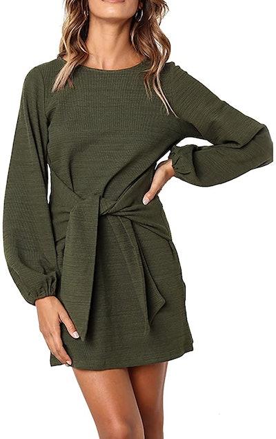 PRETTYGARDEN Long Sleeve Mini Dress