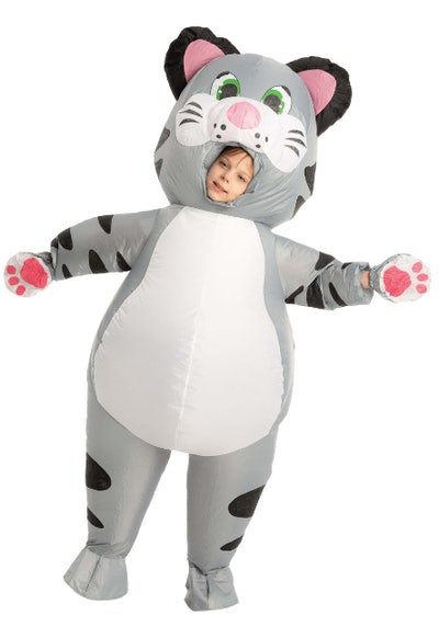 Child dressed as an inflated cat