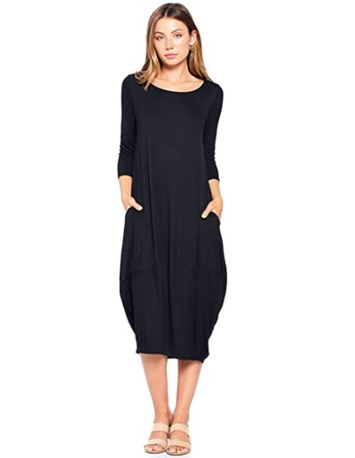12 Ami Bubble Hem Midi Dress