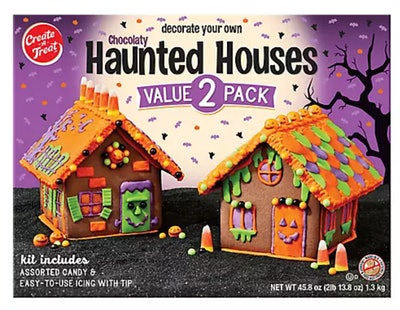 Create a chocolate haunted house with this decorating kit from BJ's Wholesale.