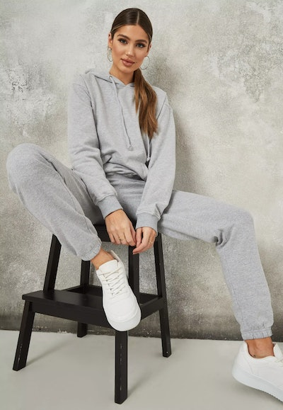 Gray Hoodie and Joggers Co-ord Set