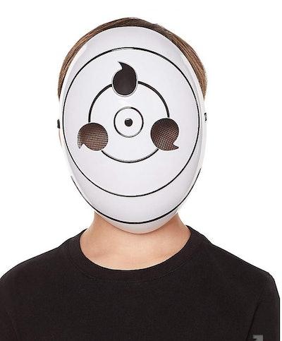 Kid wearing TOBI mask