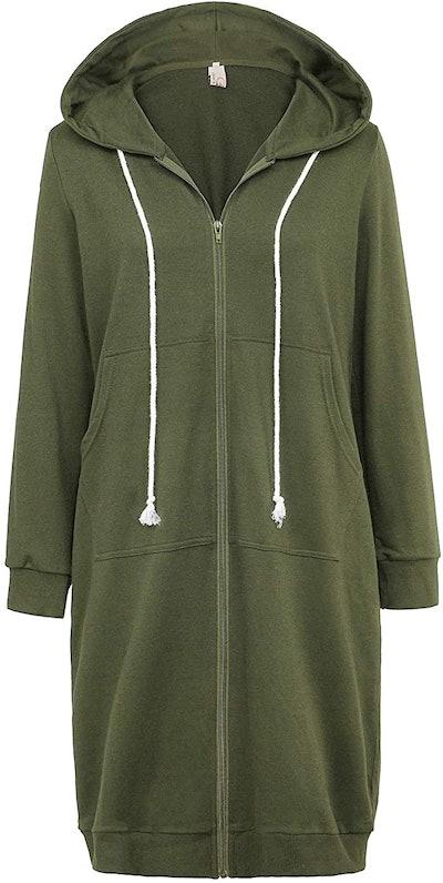 GRACE KARIN Zip Up Long Hoodie Jacket