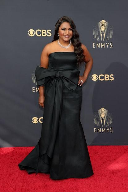 Mindy Kaling attends the 73rd Primetime Emmy Awards at L.A. LIVE on September 19, 2021 in Los Angele...