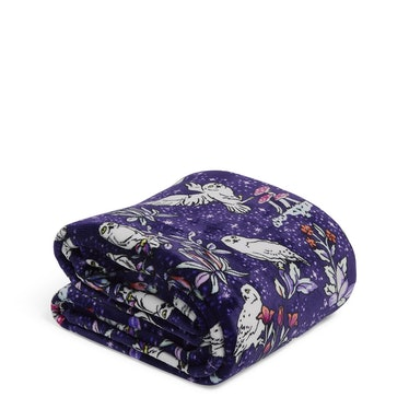 The Vera Bradley X 'Harry Potter' Forbidden Forest Collection features a fleece throw blanket.
