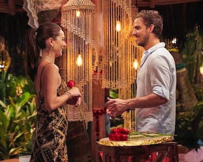 Noah Erb gives Abigail Heringer a rose during 'Bachelor in Paradise.'