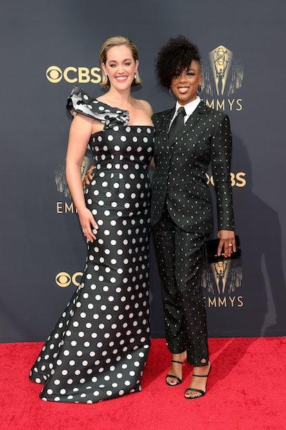 Lauren Morelli and Samira Wiley attend the 73rd Primetime Emmy Awards at L.A. LIVE on September 19, ...